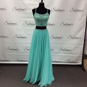 Sherri Hill - Style 52516 - Size 2 - Aqua